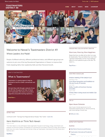 Toastmasters District 49 Website